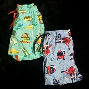 Carter's bundle size 2T boys swim trunks